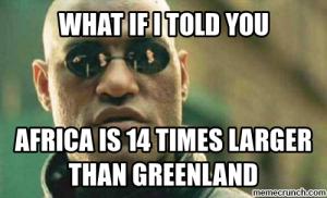 Africa es 14 veces más grande que Groenlandia. Foto: Ymugr.