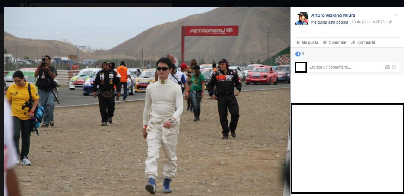 El 2011 en Perú durante una carrera. Foto: Facebook