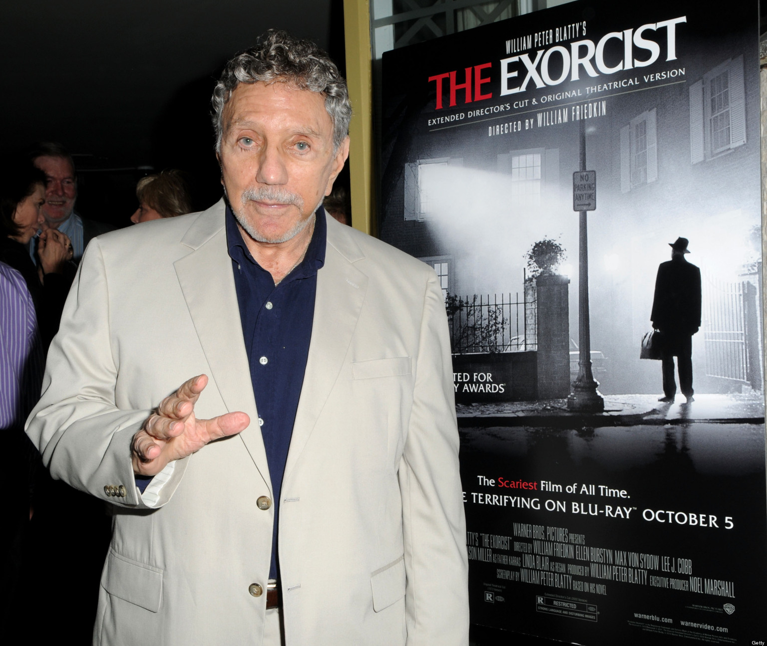 "NEW YORK - SEPTEMBER 29:  Writer/Producer William Peter Blatty attends the special screening of ""The Exorcist Extended Director's Cut"" at Il Gattopardo on September 29, 2010 in New York City.  (Photo by George Napolitano/Getty Images)"
