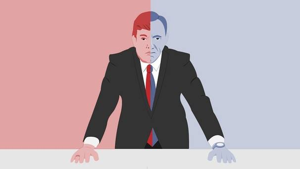 Make TV great again.  Ilustración: Bayerischer Rundfunk