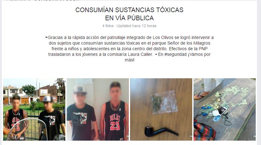 Si me aplauden, la detención la hice yo. Si me critican, la detención la hizo la Policía. Imagen: Facebook Municipalidad de Los Olivos