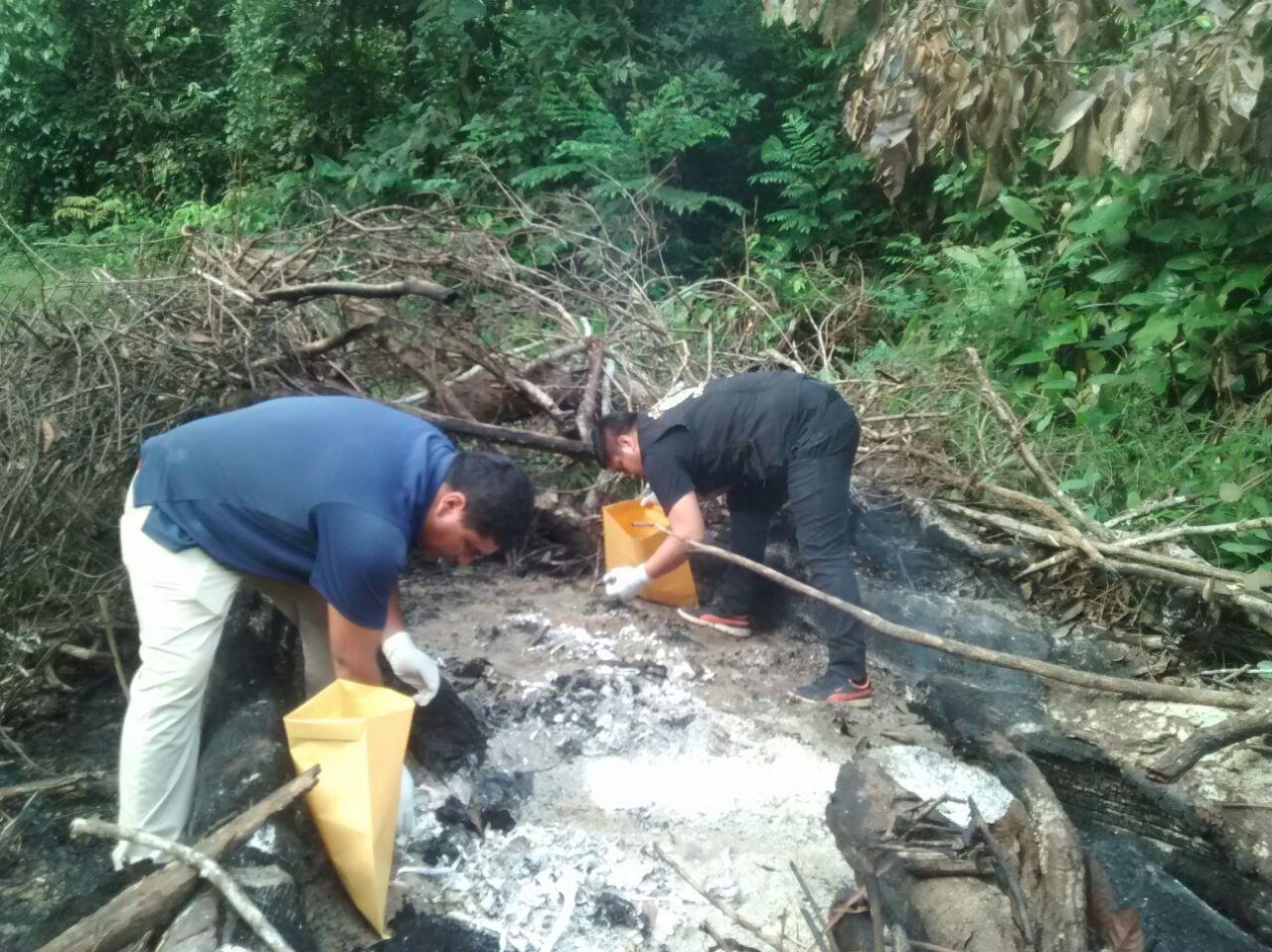 FOTO 10 - El quemadero, lugar donde incineraban a sus victimas, la banda criminal, Los Sanguinarios de la Pampa.