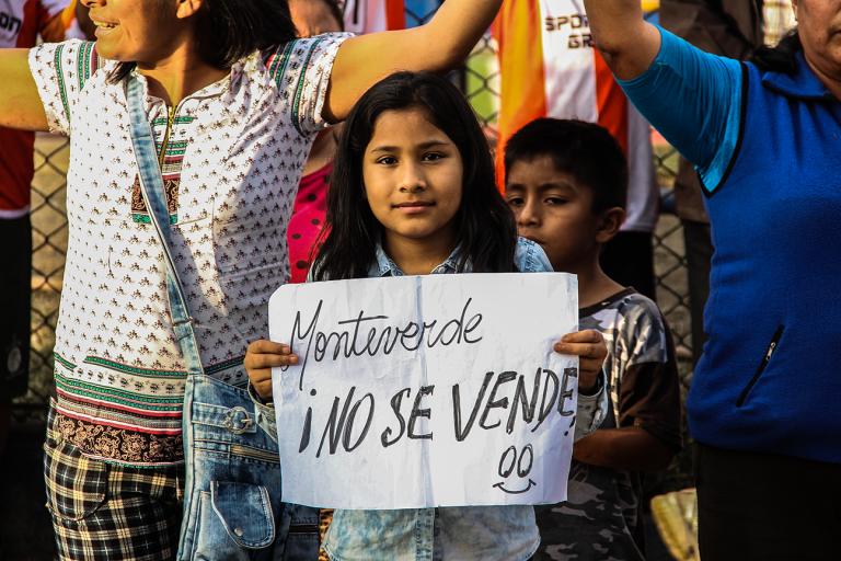 Defendiendo Monteverde. Foto: SJL Digital