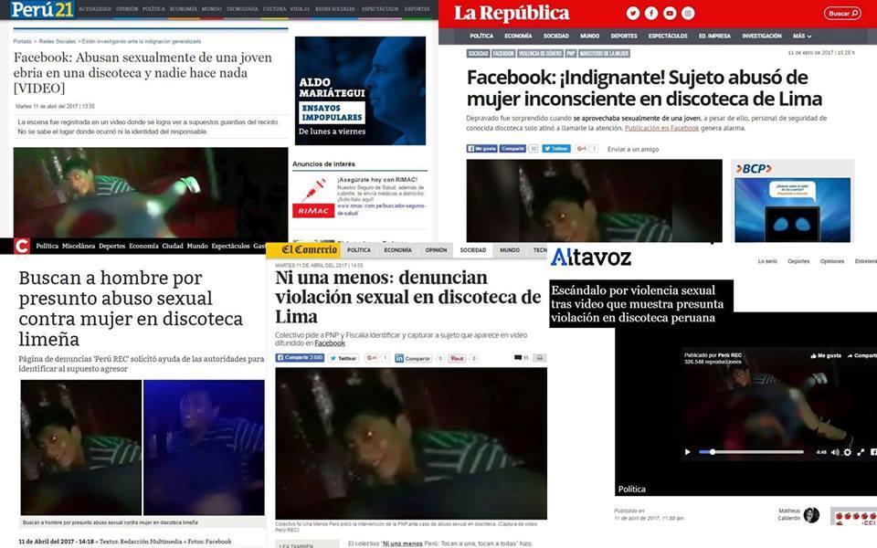 portada diarios violación
