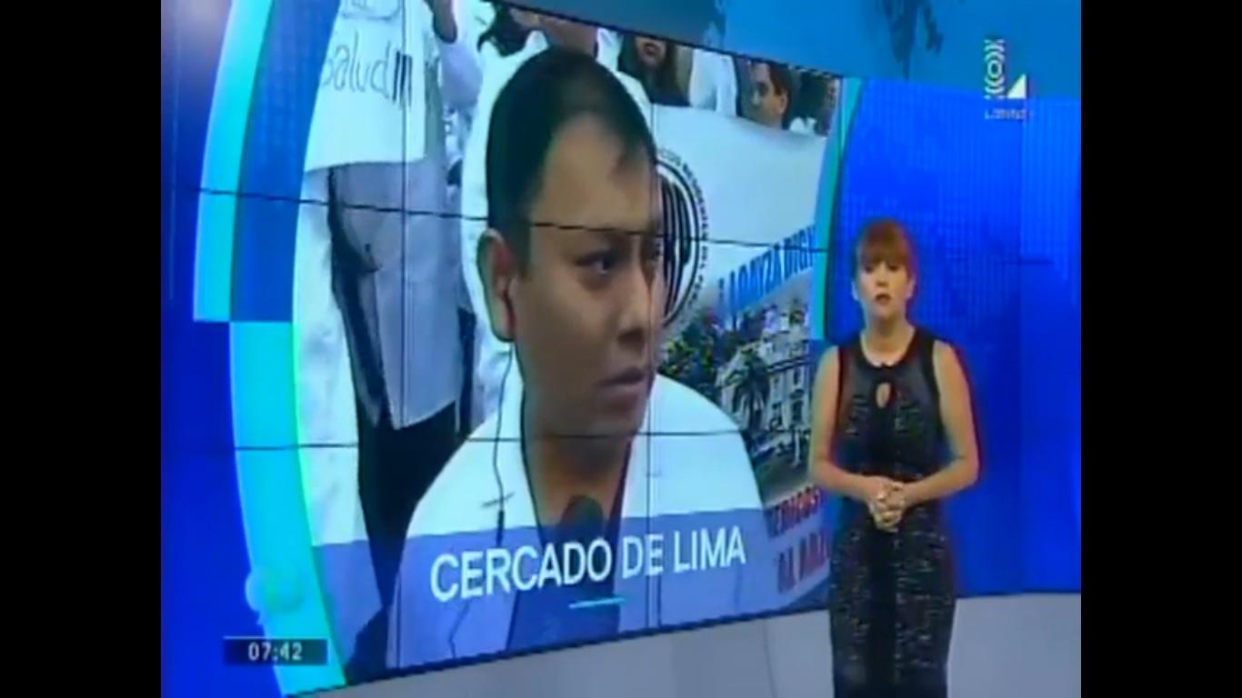 La Medina analizando la problemática de la salud. Imagen: Latina