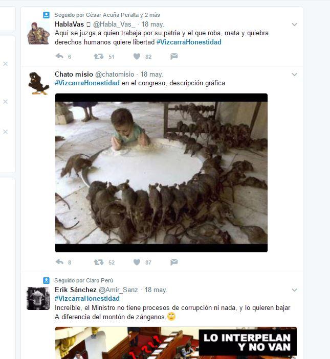 Un HT telaza como #VizcarraHonestidad Imagen: Twitter