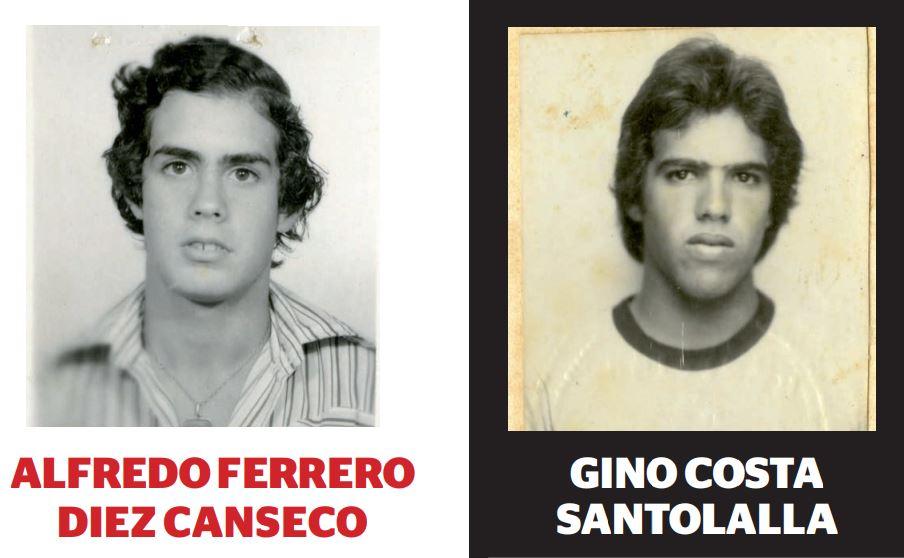 Alfredo Ferrero mantiene los mismos dientes y el actual congresista Gino Costa, la misma melena. Imagen: PUCP