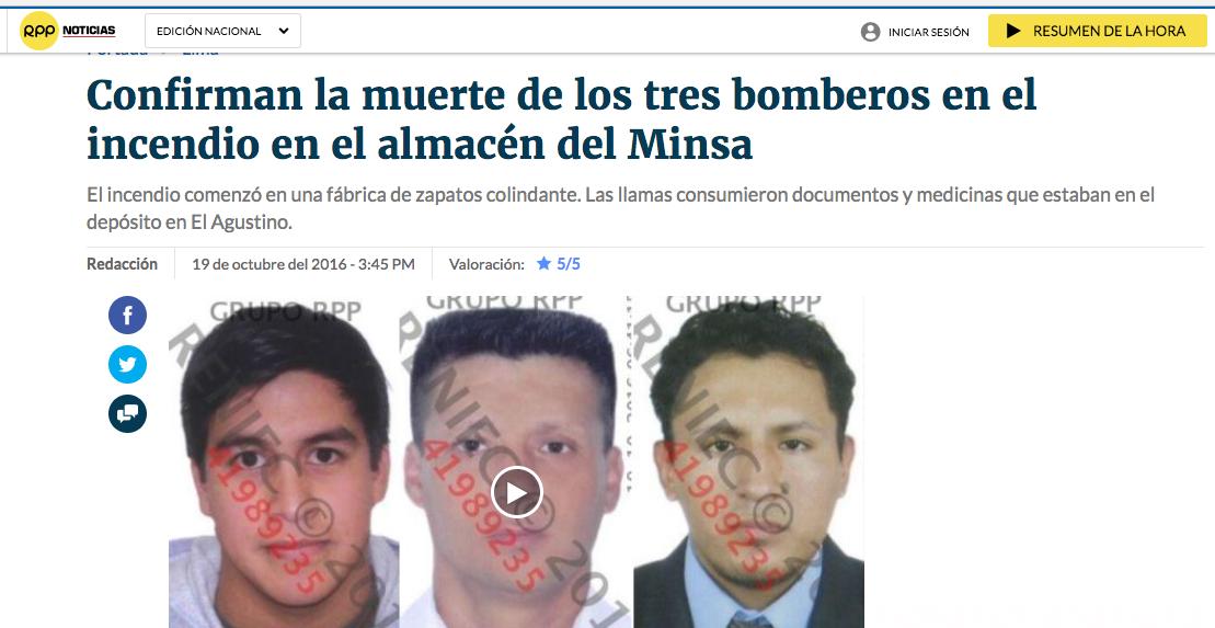 Alonso Salas, Raúl Sánchez y Eduardo Jiménez. Imagen: captura RPP
