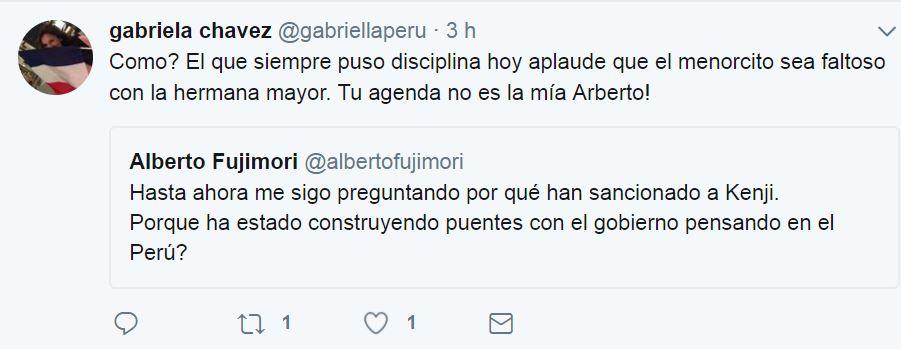 Pensábamos que la Gaby era amiga de toda la derecha pero no. Imagen: captura Twitter