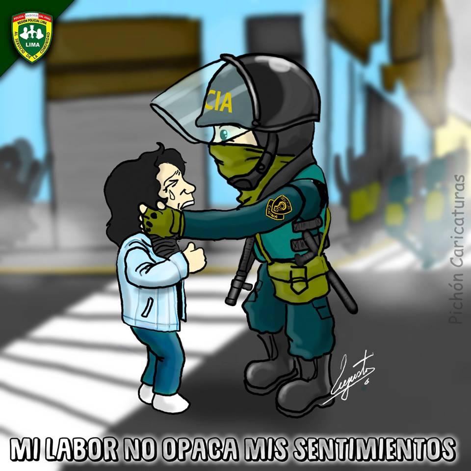 Ilustración publicada por la Policía Nacional del Perú.