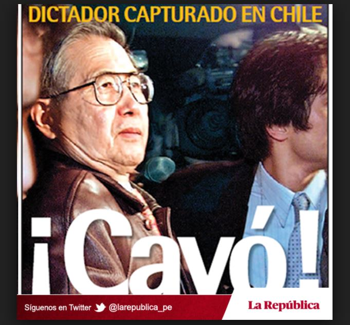 Capturado en Chile. Imagen: La República