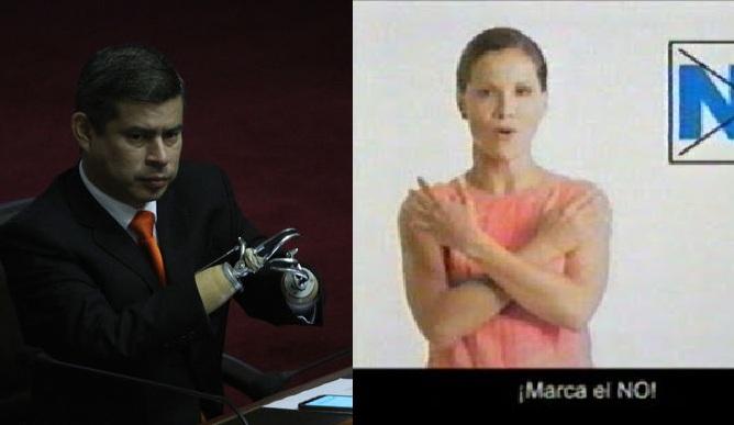 ¿Quiere más pruebas, comisión Lava Jato? Imágenes: La República y Spot del No.
