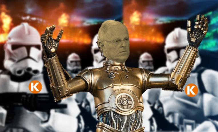 También puede quedar como C3PO.  Imagen: Útero.Pe