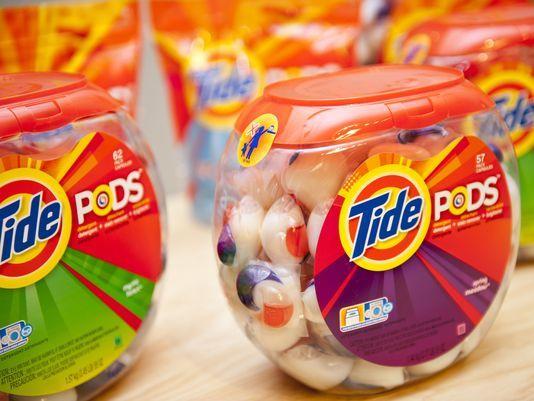 Una de las tantas presentaciones de Tide pods. Los colores varían de acuerdo a los componentes adicionales: suavizantes, perfumes, etc. Foto: Usa Today