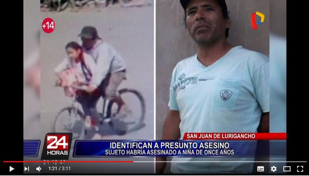 Este es el asesino de la niña, César Augusto Alva. Imagen vía Panamericana TV