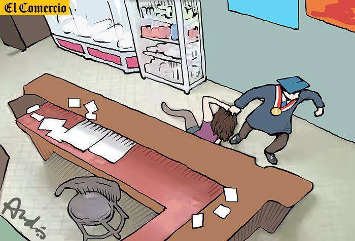 Otra vez.  Caricatura de Andrés Edery para El Comercio