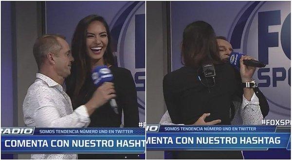 Imágenes de otro programa recogidas por Dan Lerner, donde la modelo tiene que bailar con el ex futbolista Julinho. Imagen: captura El Independiente