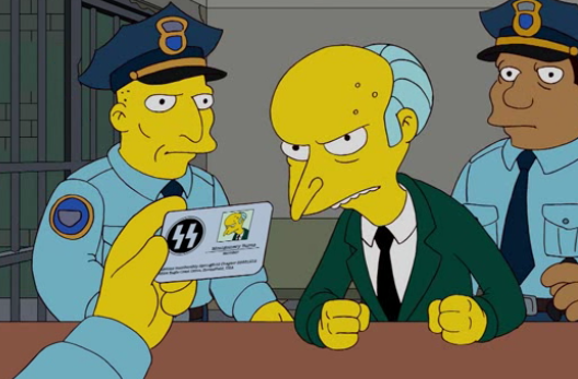 Sí, Burns era de la SS. Foto: Simpsons Wiki