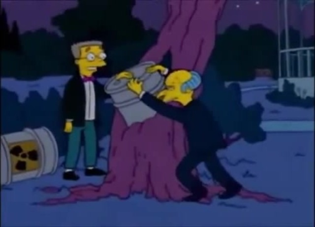 Este post busca demostrar que Roque es el señor Burns. Foto: Simpsons Wiki.