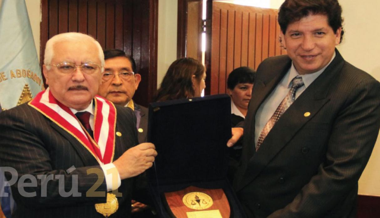 Ojo con esta foto Cervantes con Iván Noguera, más adelante te contamos por qué. Foto: Perú21