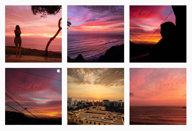 Mira esos tonos morados, rojos y naranjas, qué belleza. Foto: Captura / Instagram