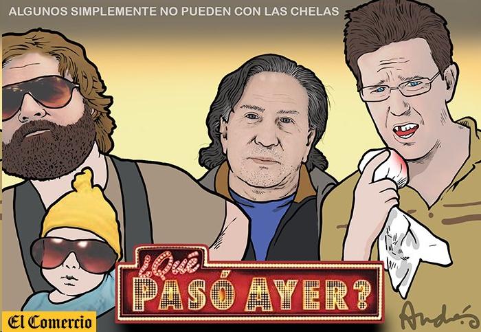 """""""Eliane, perdimos a Alejandro..."""". Caricatura: Andrés Edery / El Comercio"""
