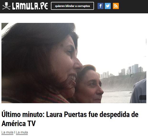 Al final sí sacaron a Laura Puertas. Imagen: La Mula