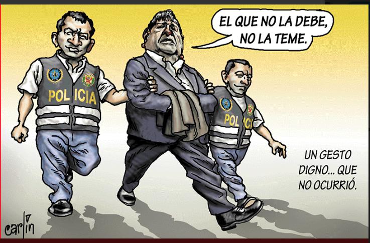 Precisa caricatura de Carlín para La República