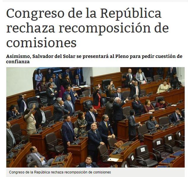 ¿Tan totalitario como el fujiaprismo que se resiste a recomponer las bancadas a pesar de que el fujimorismo tiene 20 congresistas menos que en el 2016? Imagen: Correo