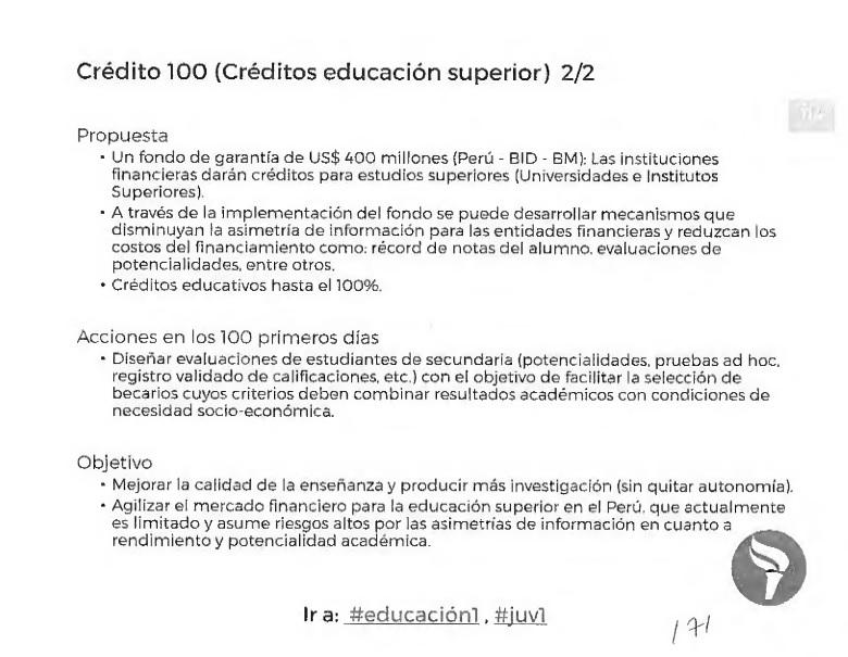 Imagen: Plan de gobierno de Guzmán