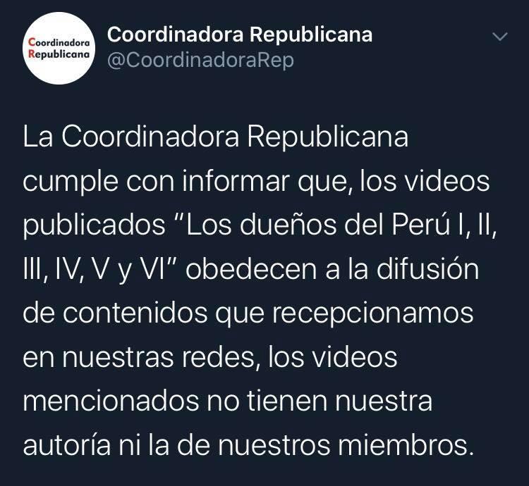 """""""Yo comparto contenido de una fuente anónima pero no sé nada"""". Foto: Captura/Twitter"""