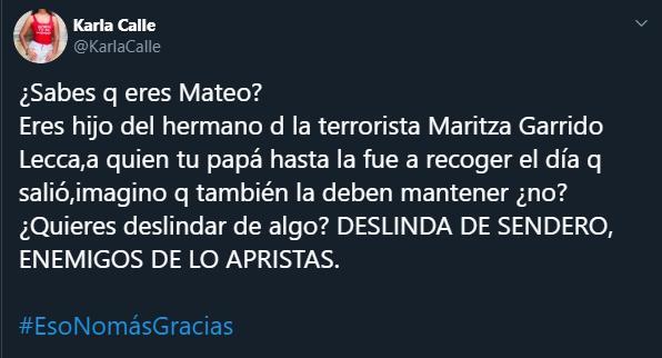 Oe pero... Mateo y Mijael tienen la misma tía, ¿no? Foto: Captura/Twitter