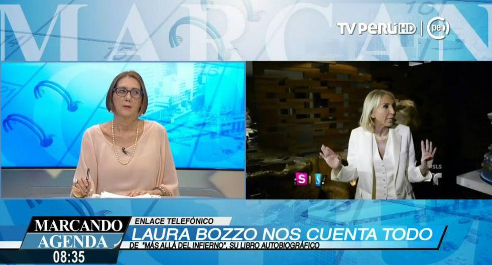 Mariella Balbi entrevista a Laura Bozzo en el canal del Estado. Foto: Captura/TV Perú