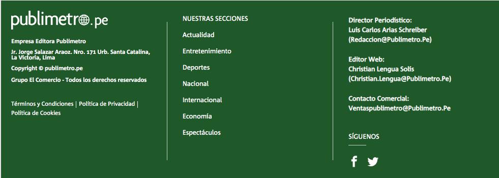 El gigante Grupo El Comercio. Imagen: captura web Publimetro