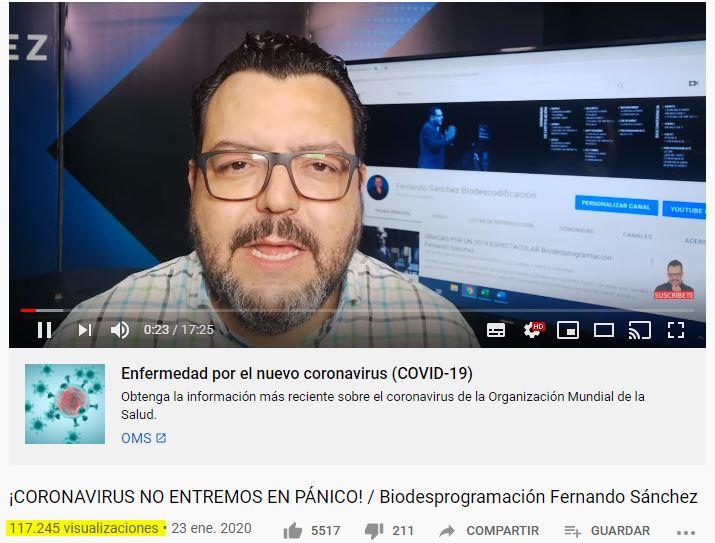 Felizmente debajo de cada video fake, Youtube ha colocado un link para tener  información oficial de la OMS. Imagen: Youtube