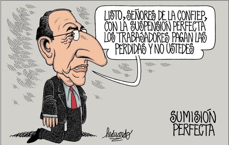 Preciso. Imagen: caricatura de Heduardo para La República