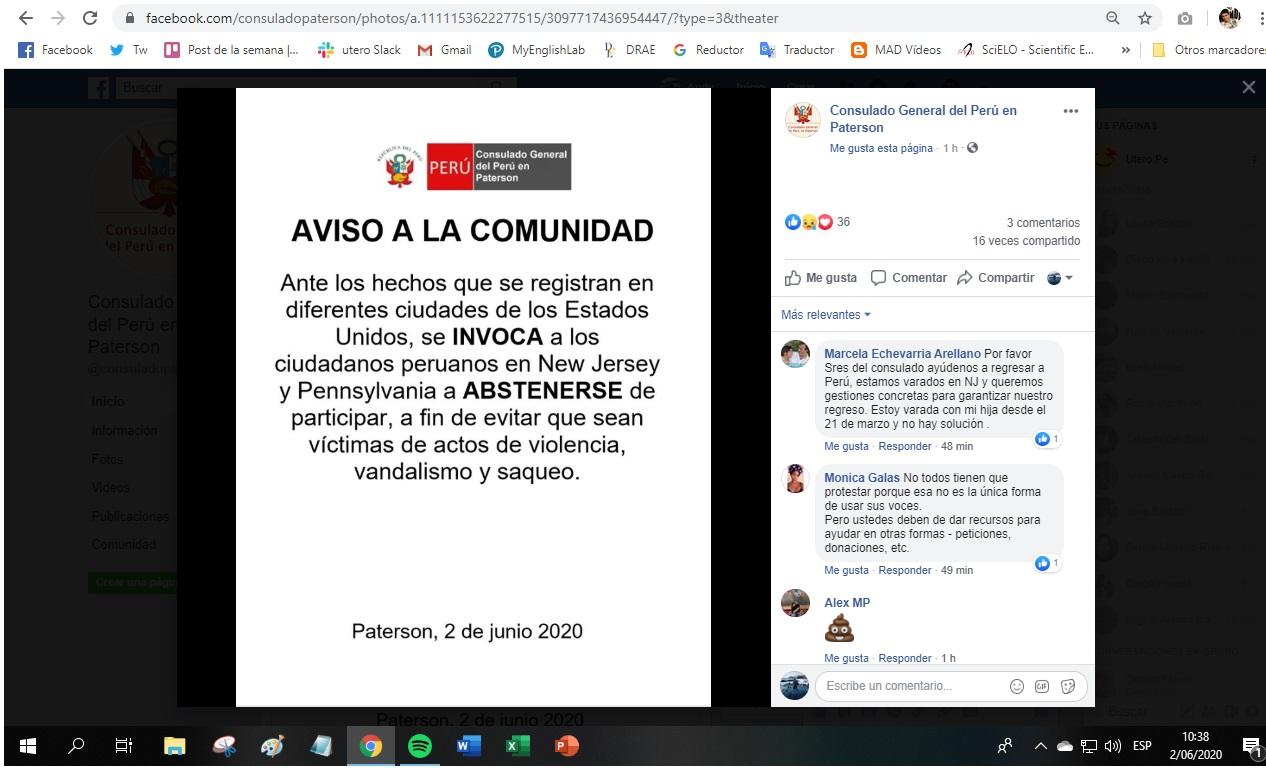 Imagen: Captura de Facebook hecha por Útero.Pe