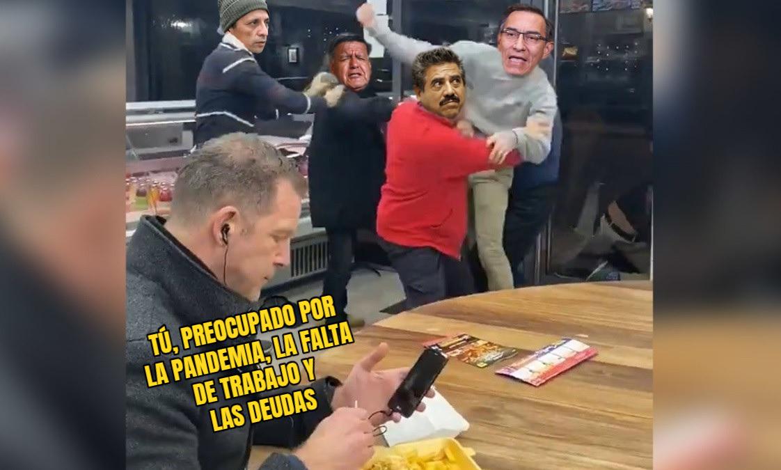 La realidad nacional resumida en un meme. Intervención: Útero.Pe